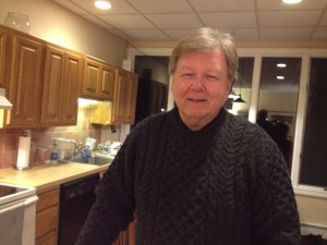 Ken Mathis, in his New Canaan apartment